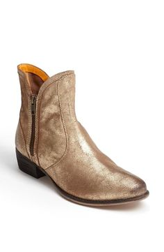 Gold, suede boots!