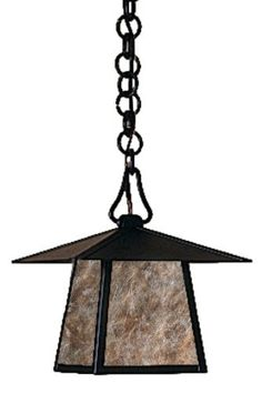 Arroyo Craftsman CH-8E-AM-BZ Carmel Collection 1-Light Exterior Hanging Lantern, Bronze Finish with Almond Mica Panels by Arroyo Craftsman. $312.00. From the Manufacturer                Arroyo Craftsman CH-8E-AM-BZ Carmel Collection 1LT Hanging Lantern features a Bronze finish complemented by Almond Mica panels in a simple Craftsman design that will sure to enhance any decor for many years to come with the superior craftsmanship. Hang over a kitchen island for some classic...