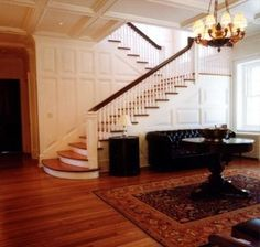 I love the staircase off a sitting area