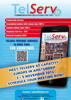 Make your appointment with TelServ for Capacity Europe now! #telecom #amsterdam #beurs #event