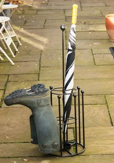 Poppy Forge Umbrella and 4 Pair Welly Boot Stand