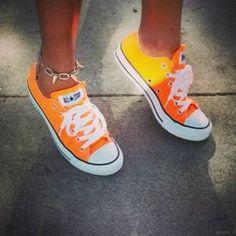 Orange Converse #summertime #neon #AllStar.