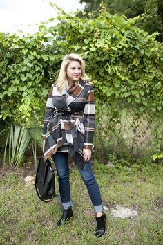 Outfit | Plaid Wrap Coat - DANDY | Shop Dandy Blog | Just Dandy by Danielle