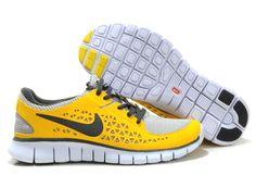 finest selection 96f56 1741f Nike Free Run Running Shoe Grey Varsity Yellow Black Mens