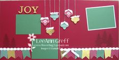 """11/15/13 Christmas Joy Scrapbook Layout 