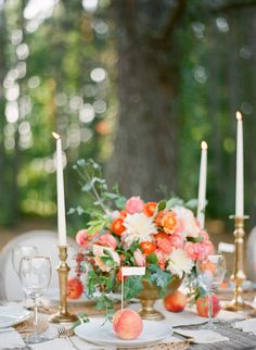 Peach Wedding Inspiration full of Color Wedding Stage Decorations, Wedding Table Flowers, Wedding Table Centerpieces, Floral Wedding, Peach Wedding Theme, Peach Party, Bright Wedding Colors, Popular Wedding Colors, Barbados Wedding