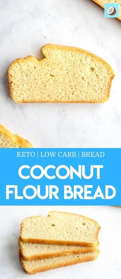 Keto Coconut Bread Beckie Mennen Keto/Low Carb Keto coconut bread is a fantastic substitute to my regular keto bread that is nut free, gluten free and slightly lower in calories. The bread is fluffy, sliceable and totally delicious. Easy Keto Bread Recipe, Lowest Carb Bread Recipe, Easy Cake Recipes, Bread Recipes, Diet Recipes, Recipe Breadmaker, Diet Desserts, Chili Recipes, Lunch Recipes