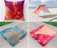 """I don't know what you were planning for this summer but it must include these Check out this Outdoor Floor Cushion called """"Peach Pink Ferns, Living Coral"""" Outdoor Floor Cushions, Outdoor Blanket, Travel Necessities, Beach Gear, Nature Artwork, Gold Gifts, Affordable Art, Dream Decor, Community Art"""