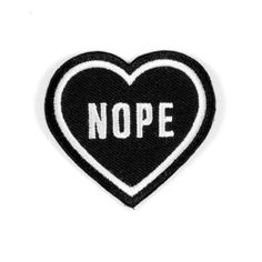 http://www.thesearethings.com/collections/patches/products/nope-heart-black