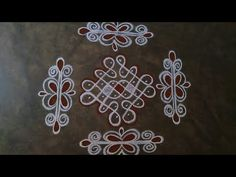Rangoli Side Designs, Free Hand Rangoli Design, Rangoli Designs Images, Rangoli Designs With Dots, Rangoli With Dots, Beautiful Rangoli Designs, Dot Rangoli, Rangoli Borders, Small Rangoli