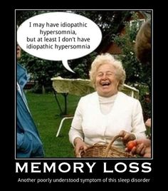 Memory Loss - it's part of the fun when it comes to IH!
