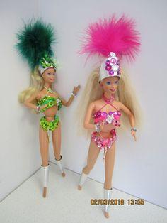 Passista Barbie.  Barbien asut sambakarnevaaleihin. ( diy barbi vaatteita, dance samba carnaval )