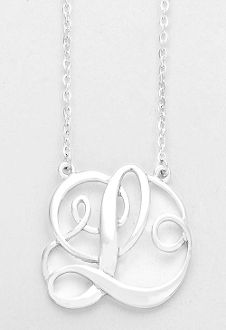 Monogram initial necklace 15 letter r pendant silver chain monogram initial necklace 15 letter l pendant silver chain aloadofball Gallery