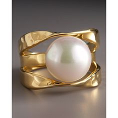 Majorica Mobius-Band Pearl Ring found on Polyvore