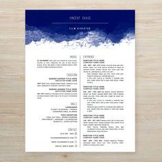 Entourage Vincent Chase inspired resume #resume #creative #free