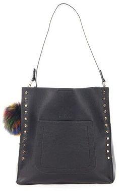 Celine Dion Pizzicato Faux Leather Hobo Bag - Black Celine Dion 1c0fed5d59b57
