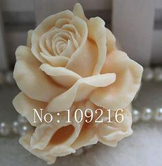 Creativemoldstore 1pcs Small Rose (zx060) Craft Art Silic...