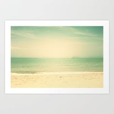 Vintage Beach  Art Print by Andreka Photography - $19.50