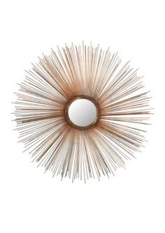Safavieh  Sunburst Mirror - Burnt Copper - One Size