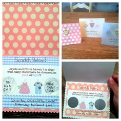 Scratch off gender announcements sent to family and friends!