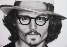 Pencil Portrait of Johnny Depp   http://pencilportraitmastery.com/