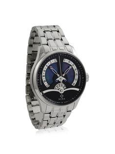 MIRA Men's M103SBK Merveille de l'Espace Silver/Black Stainless Steel Watch at MYHABIT