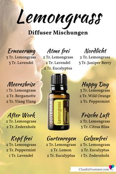 doTERRA March Action 2019 - Lemongrass Diffuse Blends- doTERRA März Aktion 2019 – Lemongras Diffuser Mischungen Spring awakening at doTERRA. Here you will find the current promotions plus special action by Claudia Trummer for new team members - Doterra Diffuser, Essential Oil Diffuser Blends, Essential Oil Uses, Doterra Essential Oils, Doterra Lemongrass, Lemongrass Essential Oil, Aromatherapy Oils, Lemon Grass, Spring Awakening