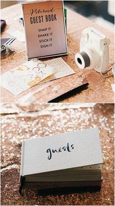 unique Polaroid photo wedding guest book idea; Featured Photographer: Still55 Photography                                                                                                                                                                                 More