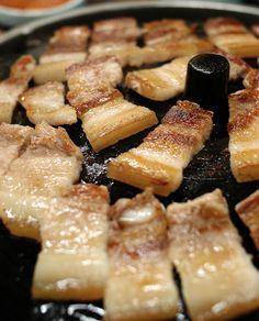 삼겹살 (korean pork belly)