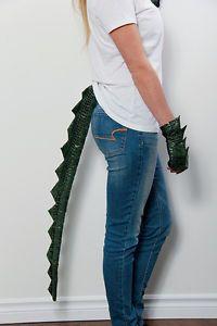 "36"" Long Clip on Dragon Tail Lizard Reptile Green Black Scale ..."