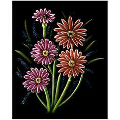 Flowers at Night - Velvet Painting