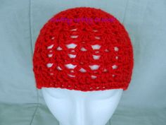 Hand Crocheted Shell & V Hat