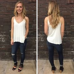 We LOVE basics and this little white tank is no exception! ( also available in black) - $22 #springfashion #spring  #fashionista #shoplocal #aldm #apricotlaneboutique #apricotlanedesmoines #shopaldm #desmoines #valleywestmall #fashion #apricotlane #newarrival  #shopalb  #ootd #westdesmoines  #shopapricotlaneboutiquedesmoines #ontrend