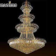 1278.20$  Buy now - http://alig5s.worldwells.pw/go.php?t=32542165932 - 100cm Luxury Big Europe Large Gold Luster Crystal Chandelier Light Fixture Classic Light Fitment for Hotel Lounge Decoratiion