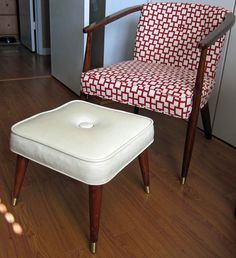 Mid-Century Modern Recovered Chair | Upscale & Upcycled I have a chair like this that needs recovering.