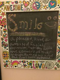 My chalkboard.