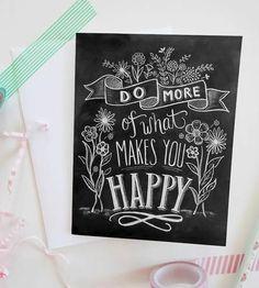 Happy Chalkboard Style Cards