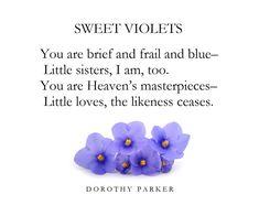 Dorothy Parker, Sweet Violets, Little Sisters