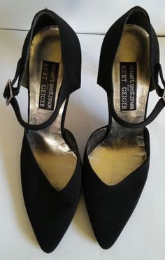 Kurt Geiger Stuart Weitzman  Satin shoes leather sole and heel buckle crysta #KurtGeigerStuartWeitzman #PumpsClassics