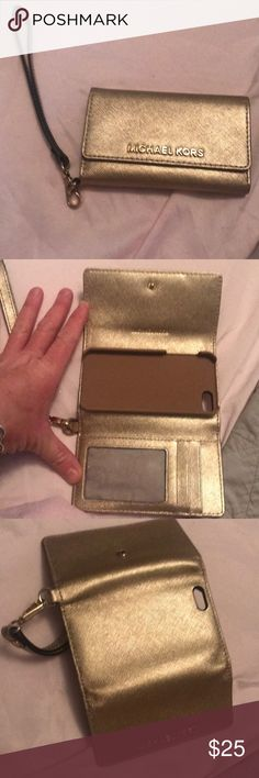 df2e7341b201 Wristlet that will hold an iPhone If anyone even still Uses the iPhone this  wristlet is for you Michael Kors Bags Clutches & Wristlets