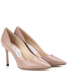 Jimmy Choo - Romy 85 leather pumps - A classic silhouette in high-shine patent…