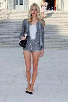 tweed blazer street style 3