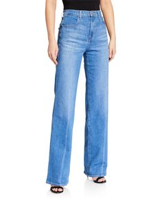 J Brand Joan High-rise Wide-leg Jeans In Alto Wide Leg Jeans, Jeans Fit, Mom Jeans, Fashion Branding, J Brand, World Of Fashion, Luxury Branding, Cotton Spandex, Neiman Marcus