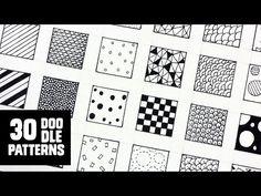 30 Patterns for Doodling / Filling gaps - YouTube
