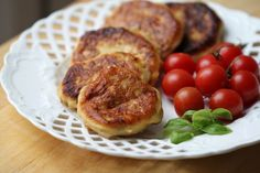 My mother used to used left over mashed potatoes to make these potato pancakes the next night for supper. She fried hers and they were quite delicious. However, baking is less messy.