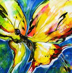 Buy Joyful Ecstasy No 3 - Abstract Butterfly by Kathy Morton Stanion, Acrylic painting by Kathy Morton Stanion on Artfinder. Discover thousands of other original paintings, prints, sculptures and photography from independent artists.