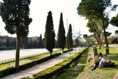Sunday lounging at Borghese Gardens