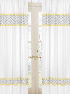 Zig Zag yellow and gray window panels