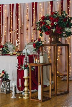 100+ Marsala/burgundy color combos for 2019 fall weddings---wedding decorations with burgundy flowers, vintage weddings