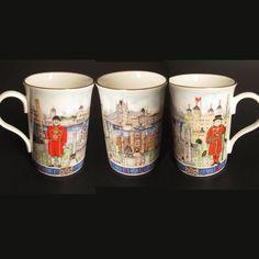 Souvenir of LONDON Fine Porcelain Tea Cup City Mug Beefeater Bridge Big Ben NEW
